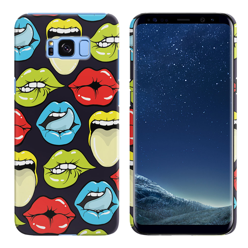 Samsung Galaxy S8 G950 Pop Art Colored Lips Back Cover Case