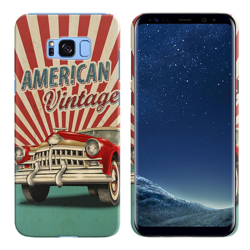 Samsung Galaxy S8 G950 American Vintage Retro Car Back Cover Case