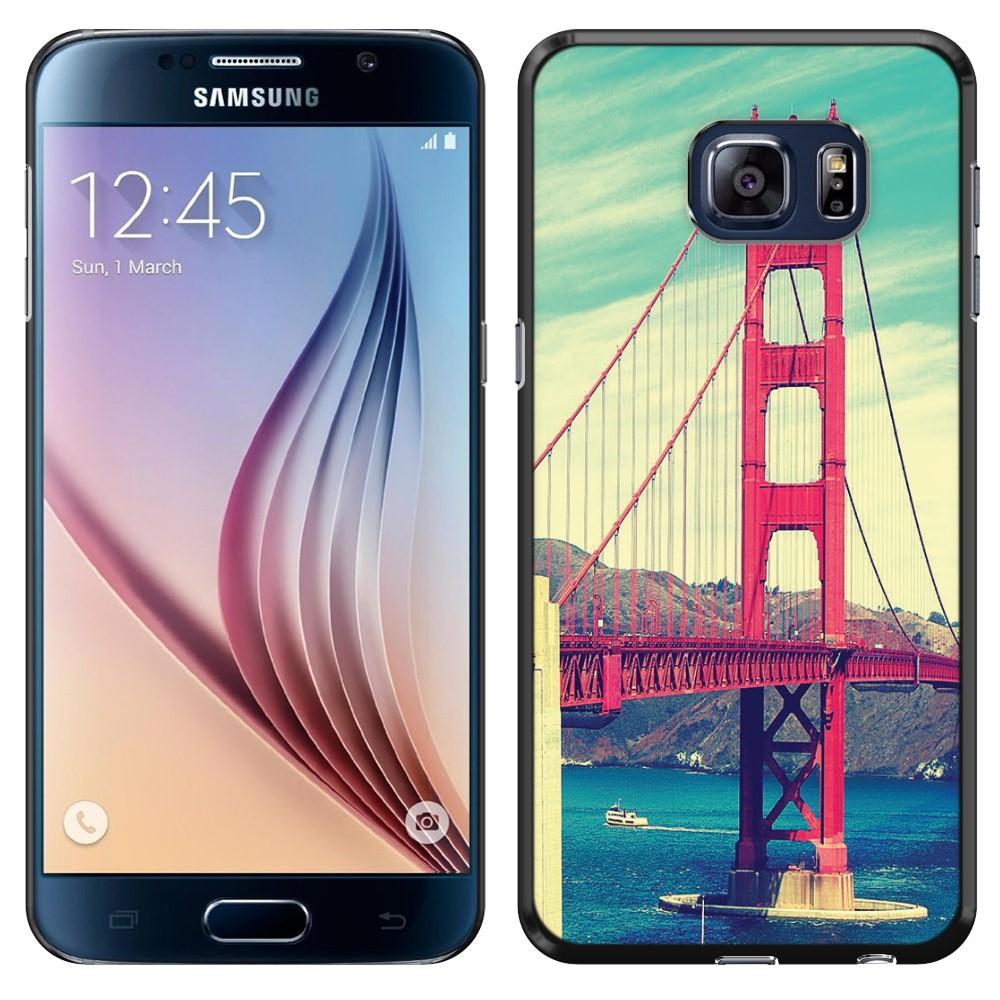 Samsung Galaxy S6 G920 Vintage Retro Golden Gate Bridge SLIM FIT Back Cover Case