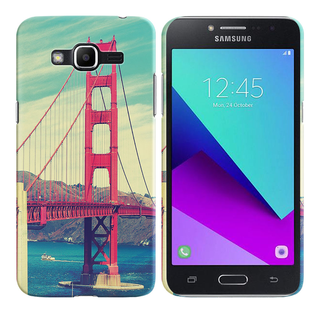 Samsung Galaxy J2 Prime 2016 G532 Grand Prime Plus Vintage Retro Golden Gate Bridge Back Cover Case