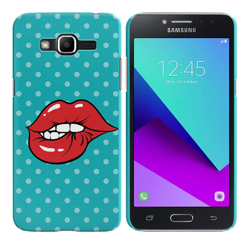 Samsung Galaxy J2 Prime 2016 G532 Grand Prime Plus Pop Art Biting Lips Back Cover Case