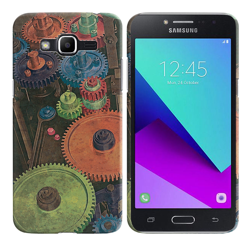 Samsung Galaxy J2 Prime 2016 G532 Grand Prime Plus Vintage Colorful Gears Back Cover Case
