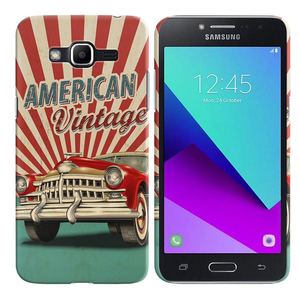 Samsung Galaxy J2 Prime 2016 G532 Grand Prime Plus American Vintage Retro Car Back Cover Case