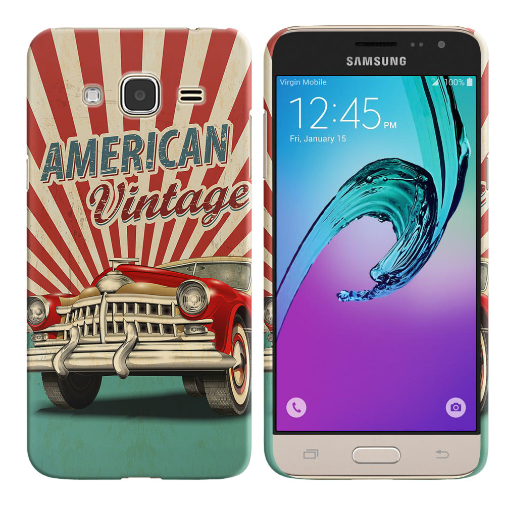Samsung Galaxy J3 J310 J320 Galaxy Amp Prime Galaxy Express Prime Galaxy Sol J321 Galaxy J3 V Galaxy Sky S320 American Vintage Retro Car Back Cover Case