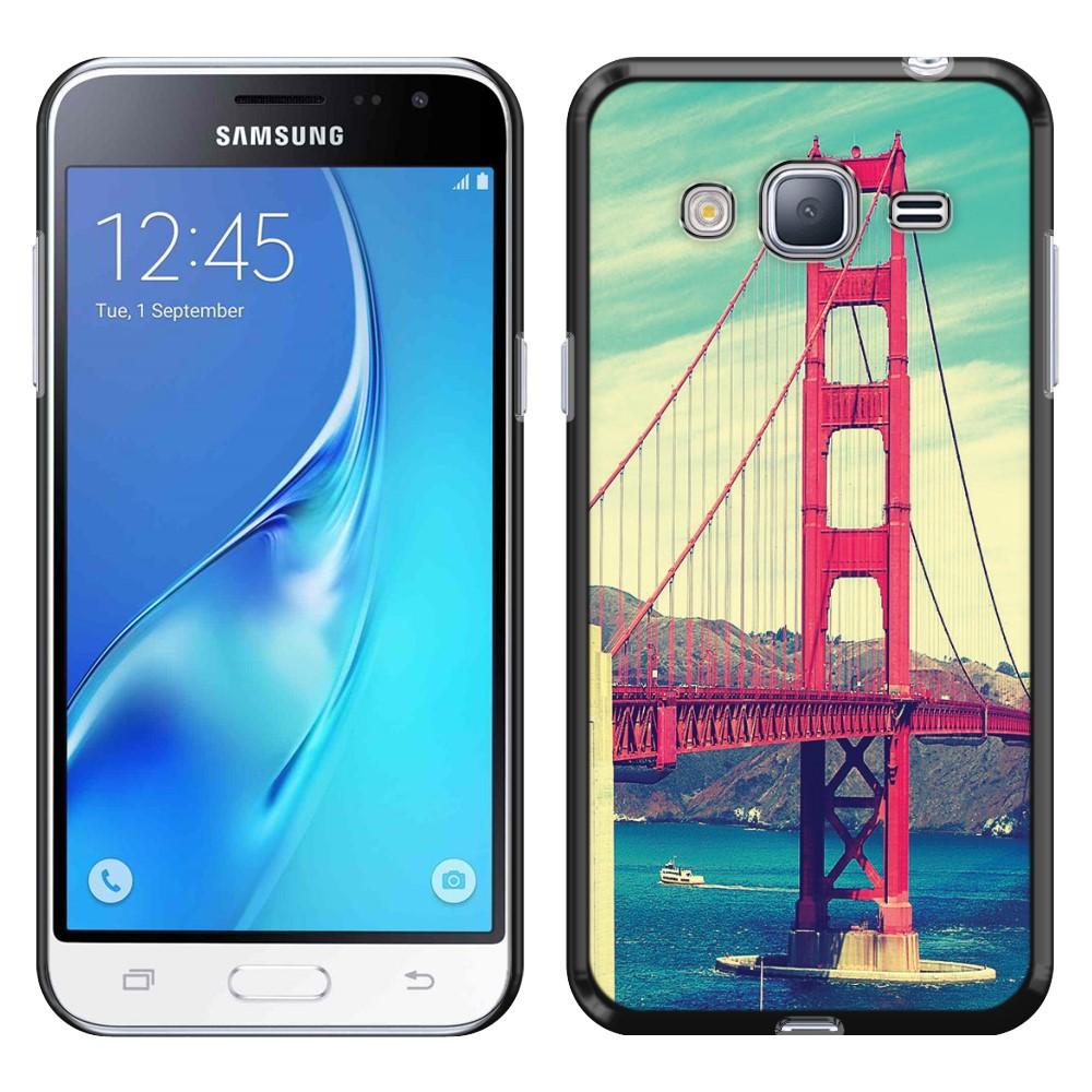 Samsung Galaxy J3 J310 J320 Galaxy Amp Prime Galaxy Express Prime Galaxy Sol J321 Galaxy J3 V Galaxy Sky S320 Vintage Retro Golden Gate Bridge SLIM FIT Back Cover Case