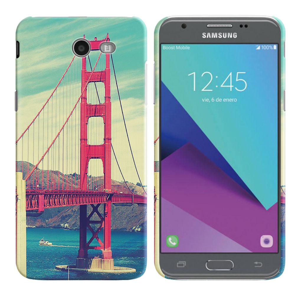 Samsung Galaxy J3 J327 2017 2nd Gen Galaxy J3 Emerge Vintage Retro Golden Gate Bridge Back Cover Case