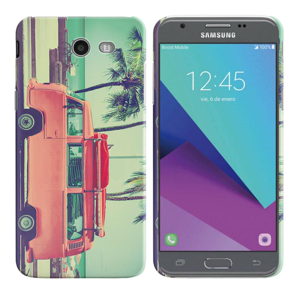 Samsung Galaxy J3 J327 2017 2nd Gen Galaxy J3 Emerge Vintage Retro Beach Car Back Cover Case