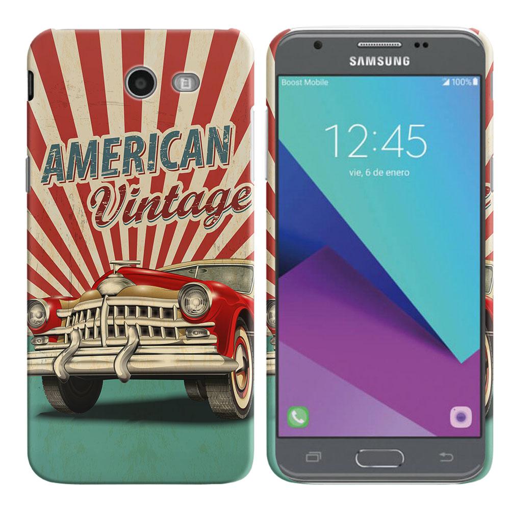 Samsung Galaxy J3 J327 2017 2nd Gen Galaxy J3 Emerge American Vintage Retro Car Back Cover Case