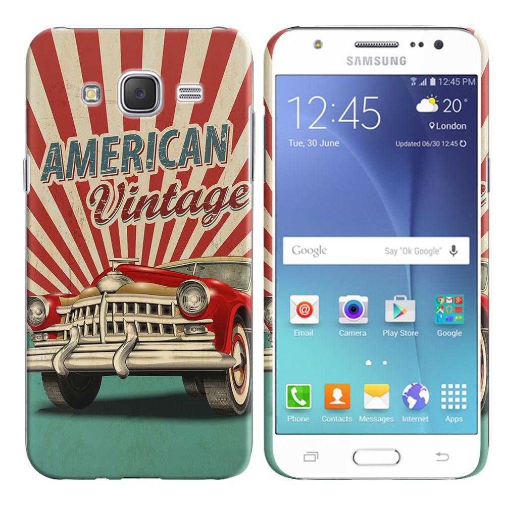 Samsung Galaxy J7 J700 American Vintage Retro Car Back Cover Case