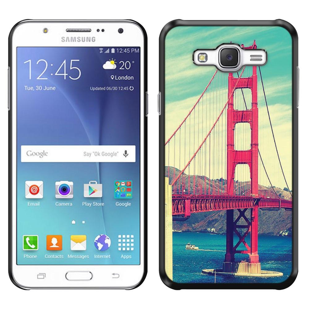 Samsung Galaxy J7 J700 Vintage Retro Golden Gate Bridge SLIM FIT Back Cover Case