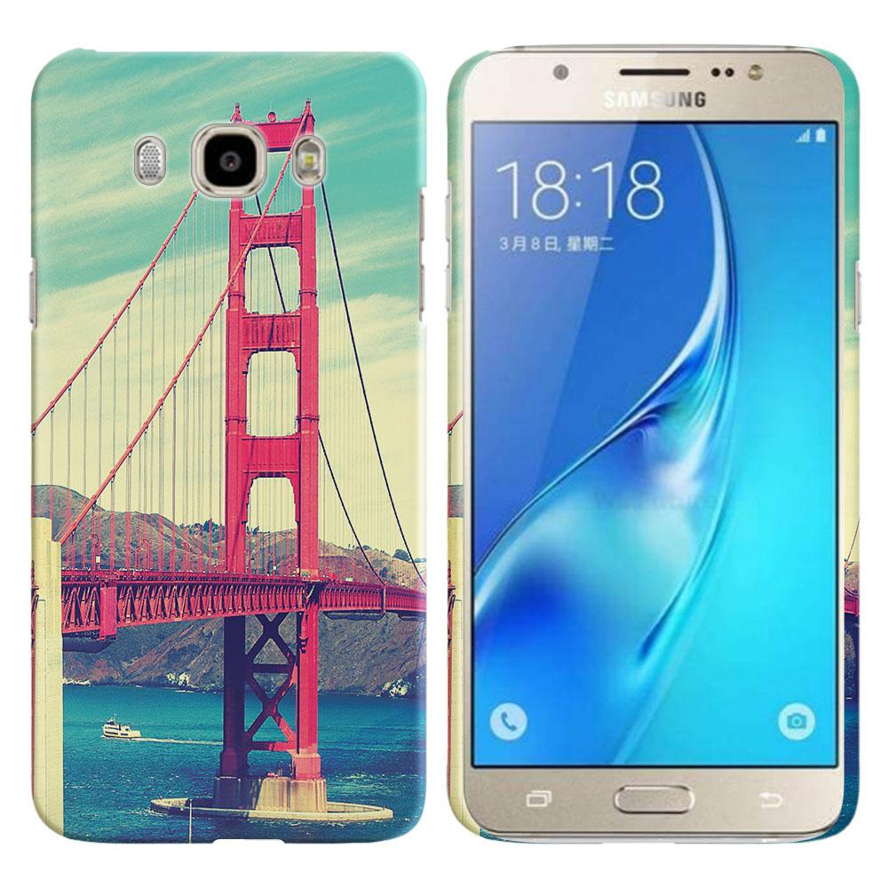 Samsung Galaxy J7 J710 2nd Gen 2016 Vintage Retro Golden Gate Bridge Back Cover Case