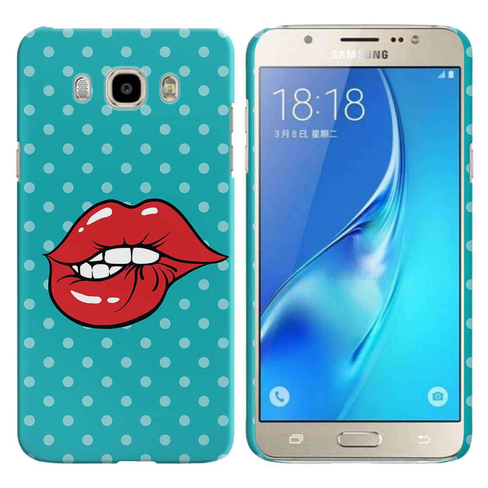 Samsung Galaxy J7 J710 2nd Gen 2016 Pop Art Biting Lips Back Cover Case