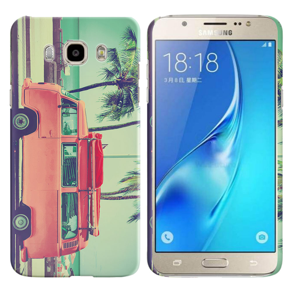 Samsung Galaxy J7 J710 2nd Gen 2016 Vintage Retro Beach Car Back Cover Case
