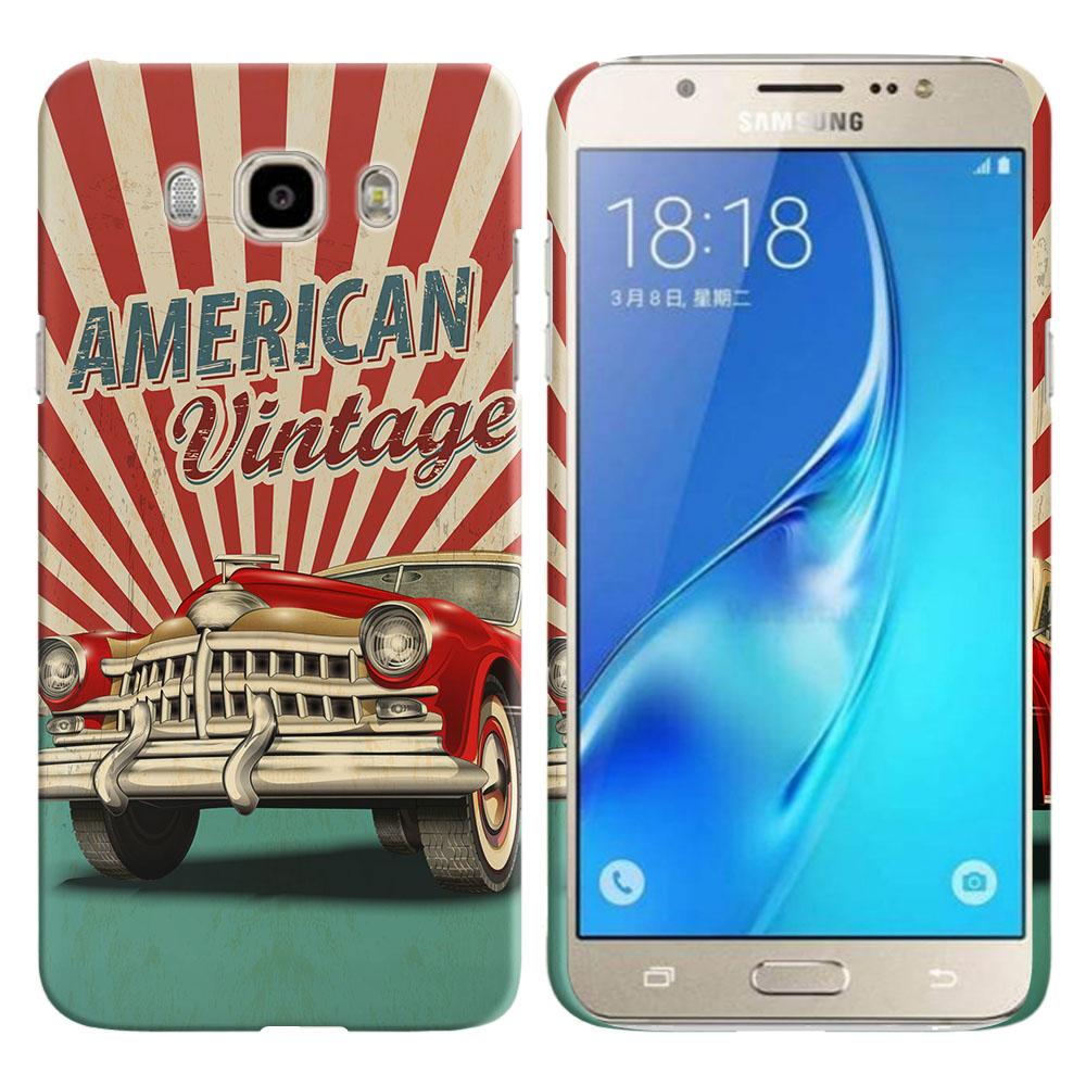 Samsung Galaxy J7 J710 2nd Gen 2016 American Vintage Retro Car Back Cover Case