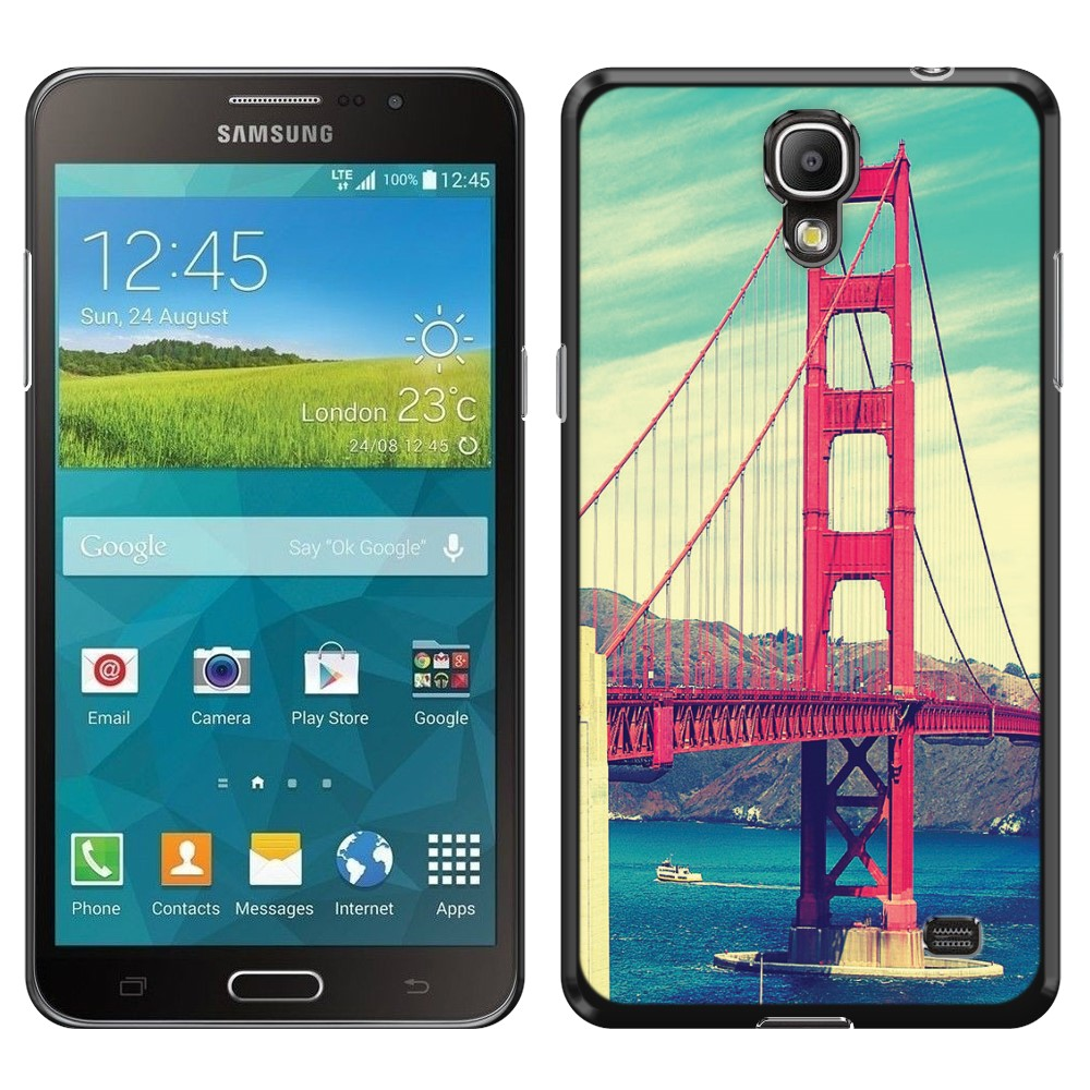 Samsung Galaxy Mega 2 G750F Vintage Retro Golden Gate Bridge SLIM FIT Back Cover Case