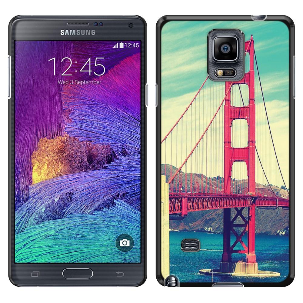 Samsung Galaxy Note 4 N910 Vintage Retro Golden Gate Bridge SLIM FIT Back Cover Case