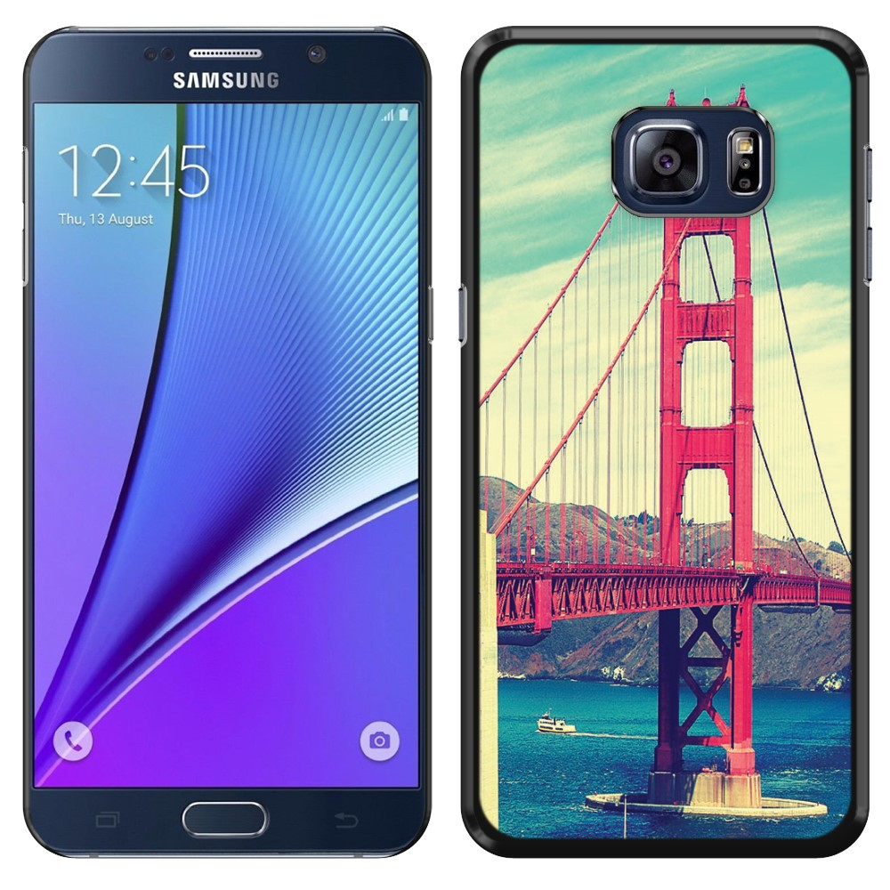Samsung Galaxy Note 5 N920 Vintage Retro Golden Gate Bridge SLIM FIT Back Cover Case