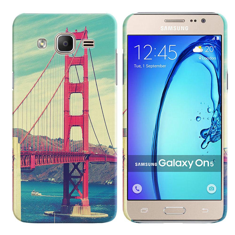 Samsung Galaxy On5 G550 G500 Vintage Retro Golden Gate Bridge Back Cover Case