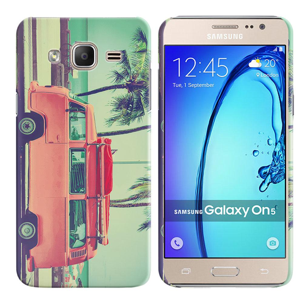 Samsung Galaxy On5 G550 G500 Vintage Retro Beach Car Back Cover Case