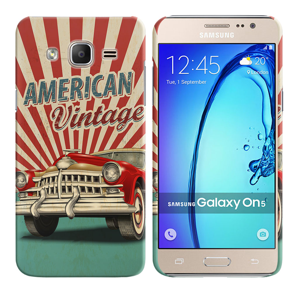 Samsung Galaxy On5 G550 G500 American Vintage Retro Car Back Cover Case