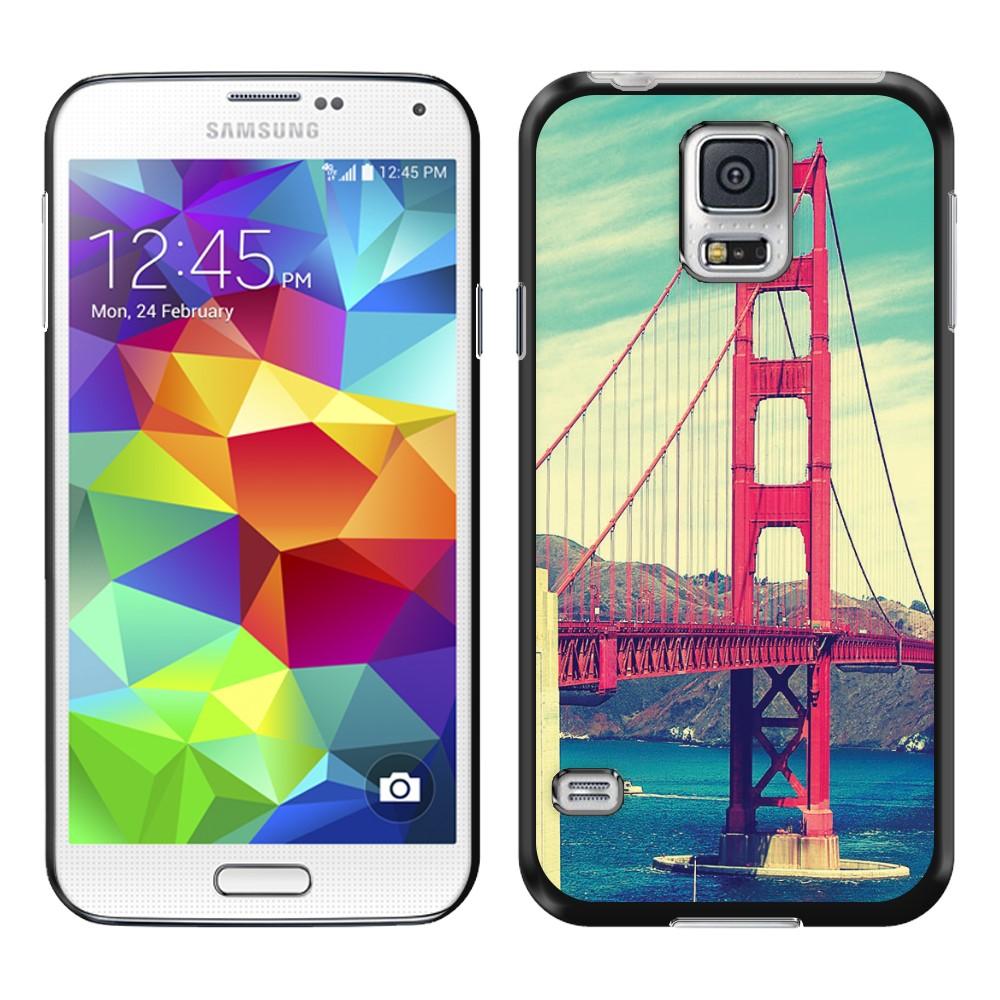 Samsung Galaxy S5 G900 Vintage Retro Golden Gate Bridge SLIM FIT Back Cover Case
