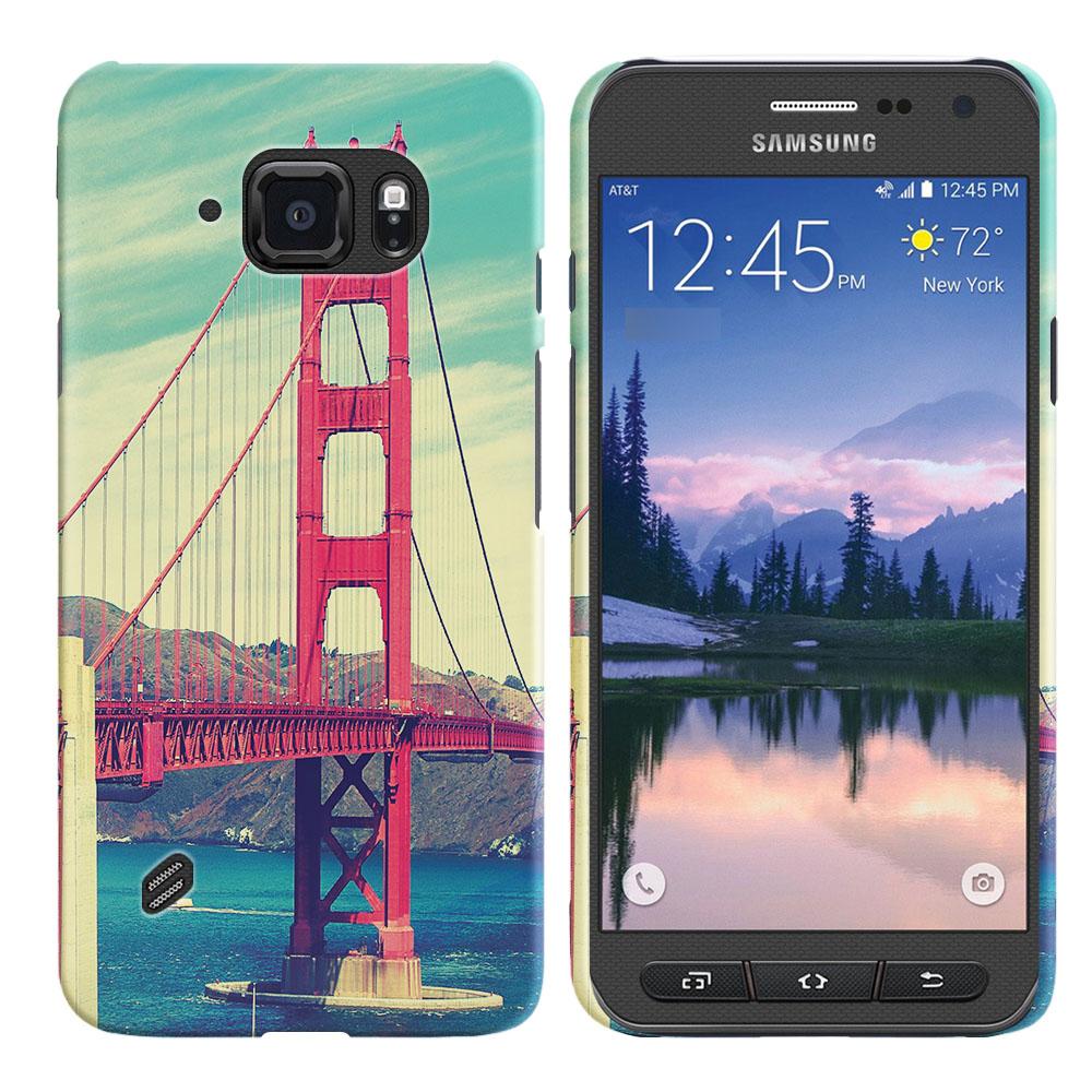 Samsung Galaxy S6 Active G890 Vintage Retro Golden Gate Bridge Back Cover Case