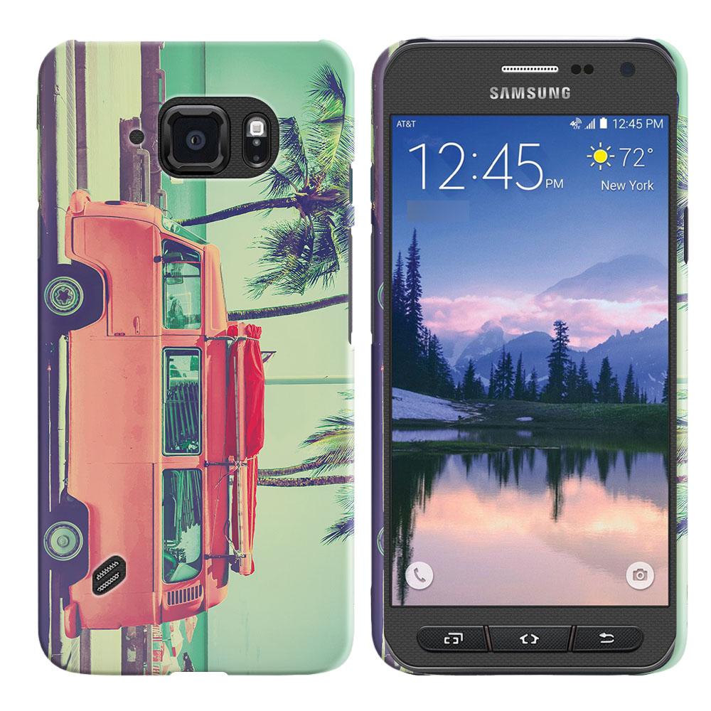 Samsung Galaxy S6 Active G890 Vintage Retro Beach Car Back Cover Case