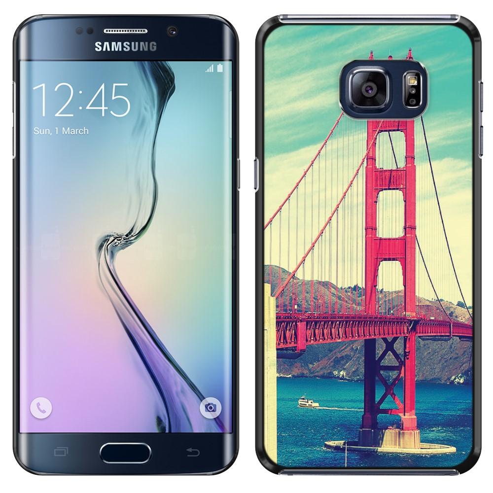 Samsung Galaxy S6 Edge G925 Vintage Retro Golden Gate Bridge SLIM FIT Back Cover Case