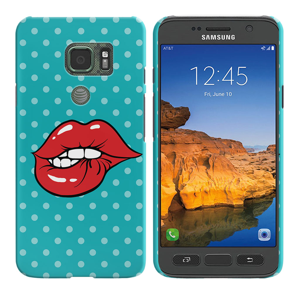 Samsung Galaxy S7 Active G891 Pop Art Biting Lips Back Cover Case
