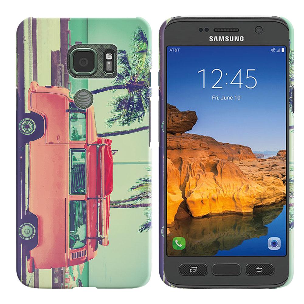 Samsung Galaxy S7 Active G891 Vintage Retro Beach Car Back Cover Case