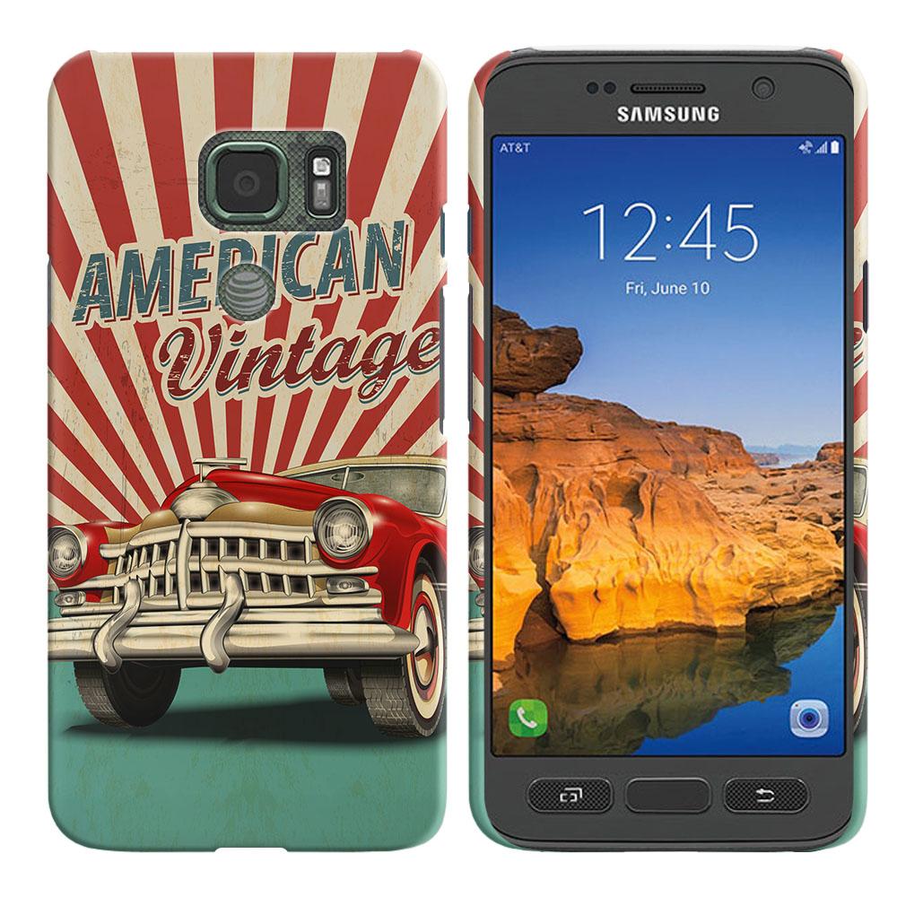 Samsung Galaxy S7 Active G891 American Vintage Retro Car Back Cover Case