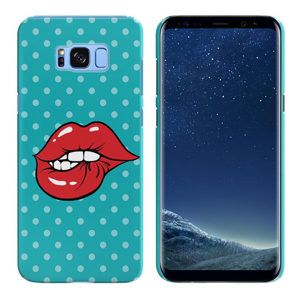 Samsung Galaxy S8  Plus G955 Pop Art Biting Lips Back Cover Case