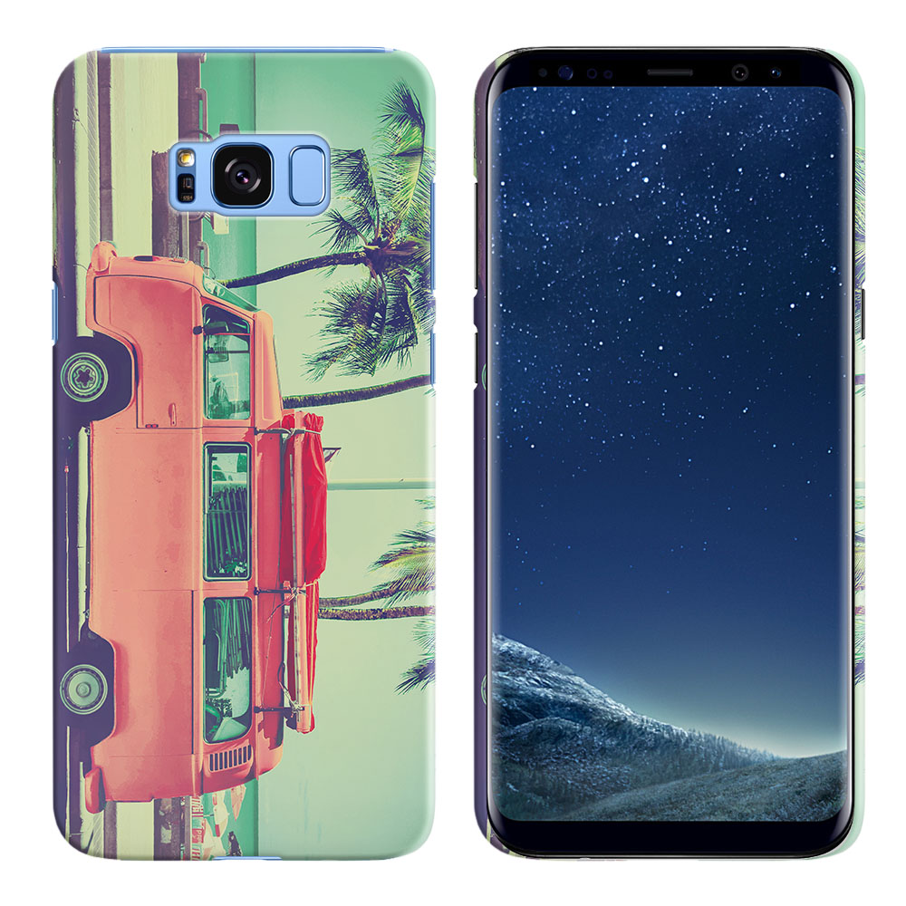 Samsung Galaxy S8  Plus G955 Vintage Retro Beach Car Back Cover Case