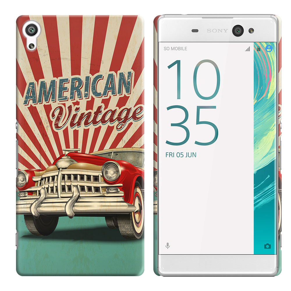 Sony Xperia XA Ultra 6 inch American Vintage Retro Car Back Cover Case