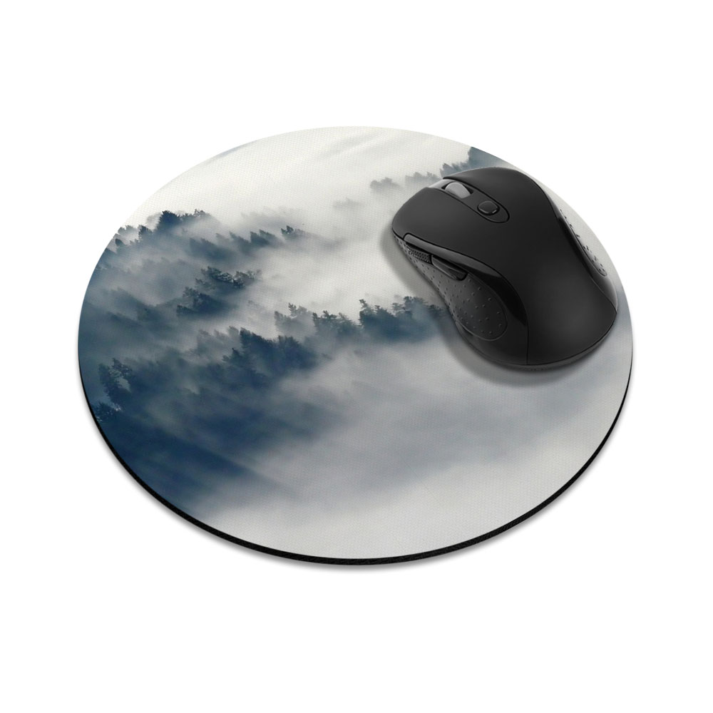 Winter Trees Round Mousepad