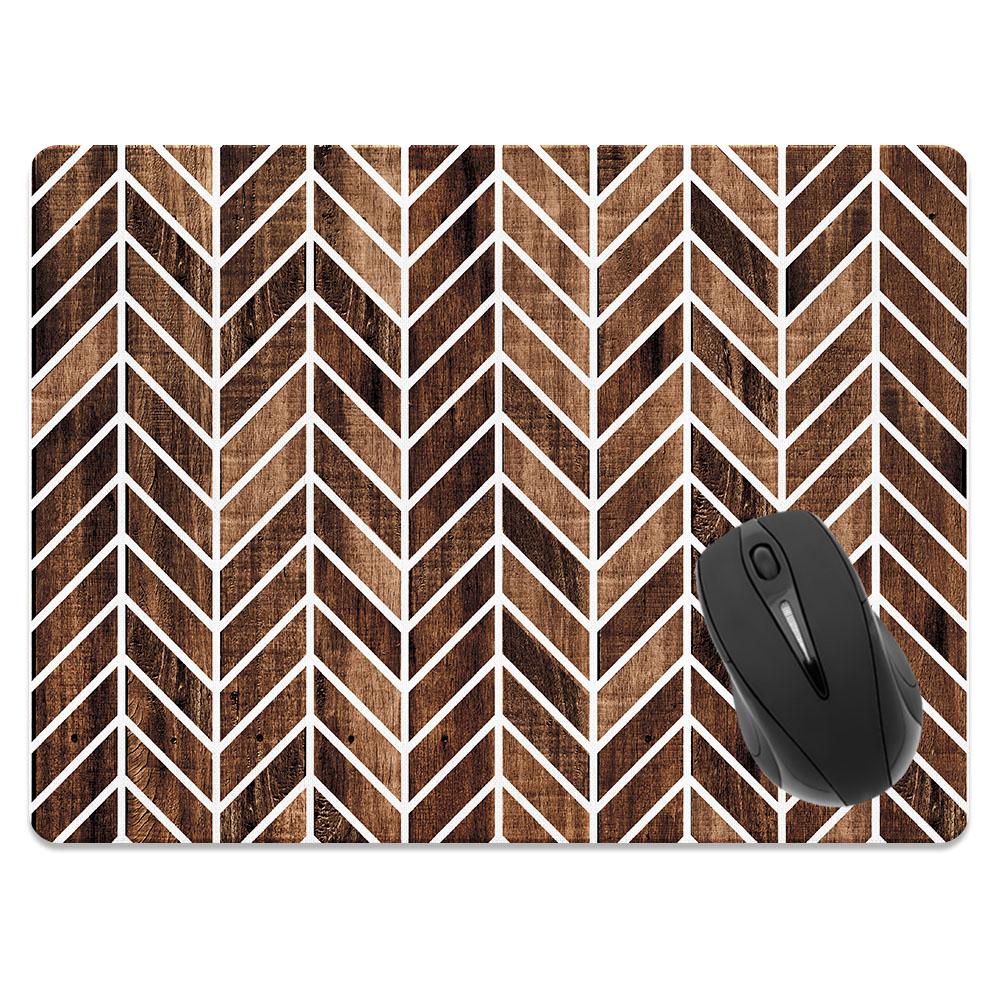 Modern Chevron Wood Rectangle Mousepad