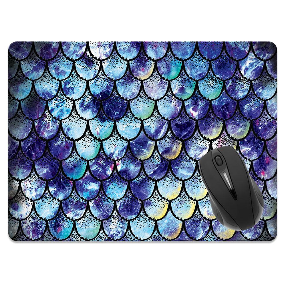 Purple Mermaid Scales Rectangle Mousepad