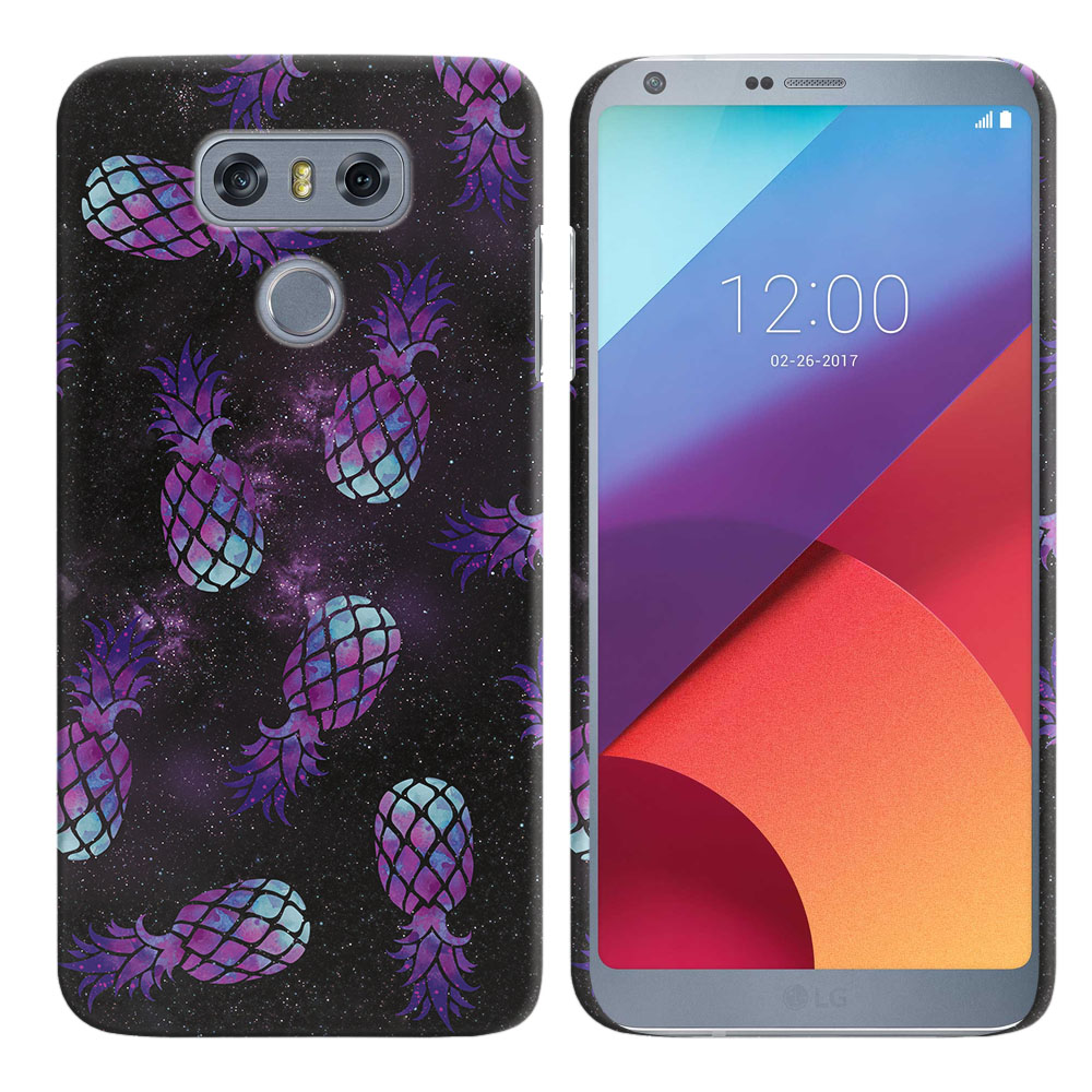 LG G6 H870-H871-H872-H873-US997-LS993-VS998-AS993-G6  Plus US997 Purple Pineapples Galaxy Back Cover Case