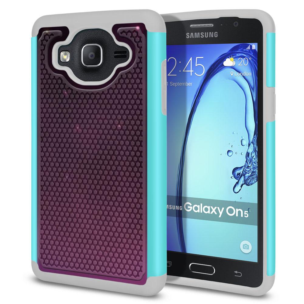 Samsung Galaxy On5 G500-Samsung Galaxy On5 G550 Hybrid Football Skin Purple Space Stars Protector Cover Case