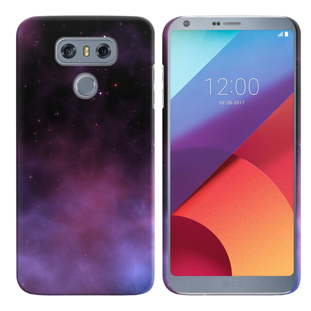 LG G6 H870-H871-H872-H873-US997-LS993-VS998-AS993-G6  Plus US997 Purple Space Stars Back Cover Case