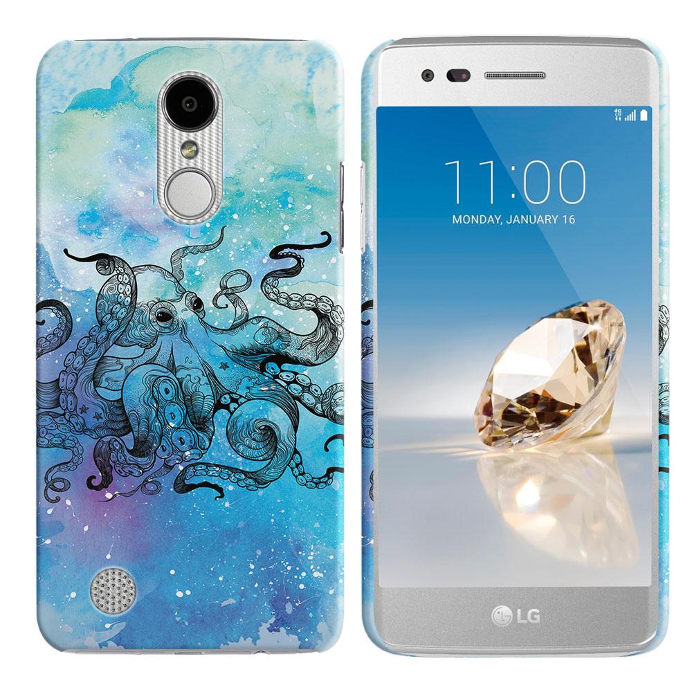 LG Aristo MS210 LV3-LG K8 (2017)-LG Phoenix 3 M150-LG Fortune Blue Water Octopus Back Cover Case