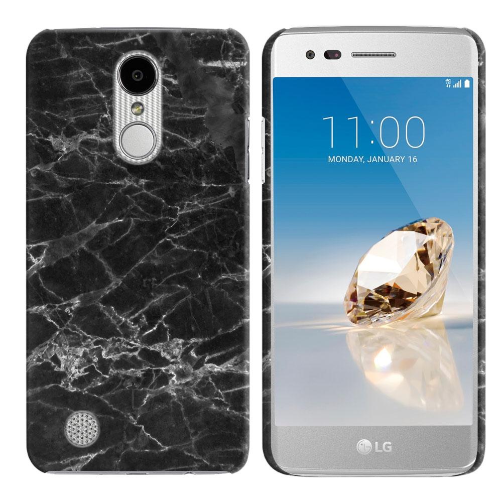 LG Aristo MS210 LV3-LG K8 (2017)-LG Phoenix 3 M150-LG Fortune Black Stone Marble Back Cover Case