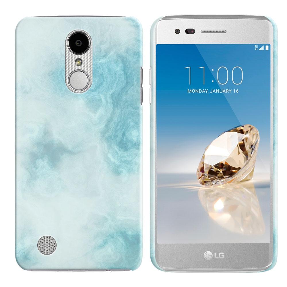 LG Aristo MS210 LV3-LG K8 (2017)-LG Phoenix 3 M150-LG Fortune Blue Cloudy Marble Back Cover Case