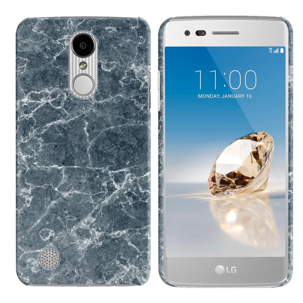 LG Aristo MS210 LV3-LG K8 (2017)-LG Phoenix 3 M150-LG Fortune Blue Stone Marble Back Cover Case