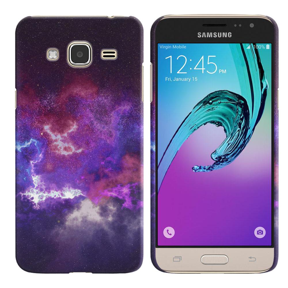 Samsung Galaxy J3 J310 J320 (Not fit for J3 Emerge J327 2017, J3 Pro 2017) Purple Nebula Space Back Cover Case