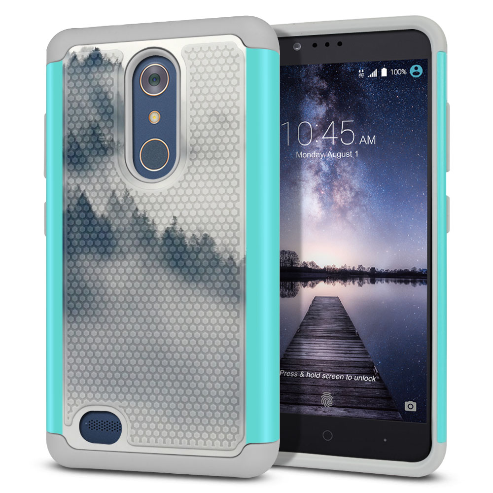 ZTE Zmax Pro Carry Z981 Hybrid Football Skin Winter Trees Protector Cover Case