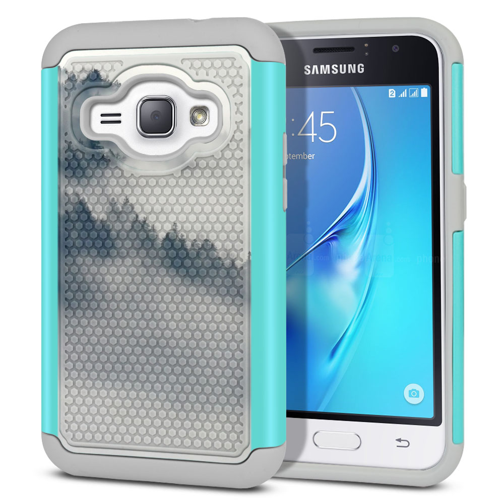 Samsung Galaxy J1 J120 2nd Gen 2016-Samsung Galaxy AMP 2 2nd Gen 2016-Samsung Galaxy Express 3-Samsung Galaxy Luna S120 Hybrid Football Skin Winter Trees Protector Cover Case