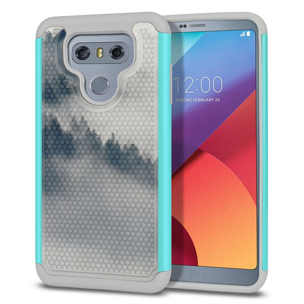 LG G6 H870-H871-H872-H873-US997-LS993-VS998-AS993-G6  Plus US997 Hybrid Football Skin Winter Trees Protector Cover Case