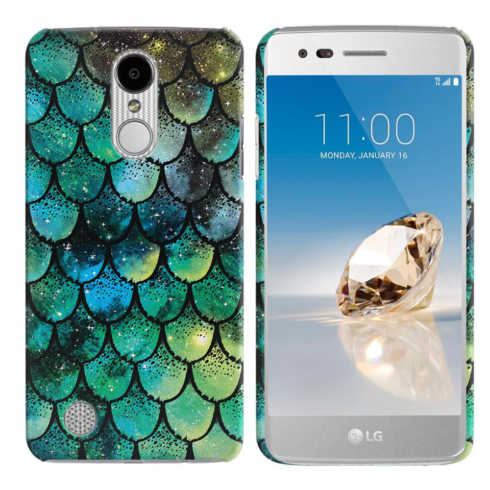 LG Aristo MS210 LV3-LG K8 (2017)-LG Phoenix 3 M150-LG Fortune Green Mermaid Scales Back Cover Case