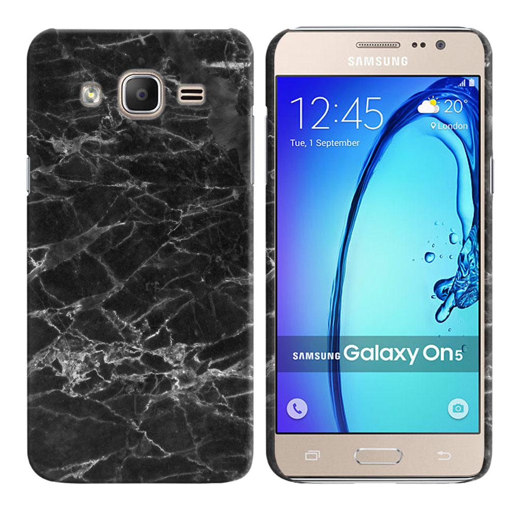 Samsung Galaxy On5 G500-Samsung Galaxy On5 G550 Black Stone Marble Back Cover Case
